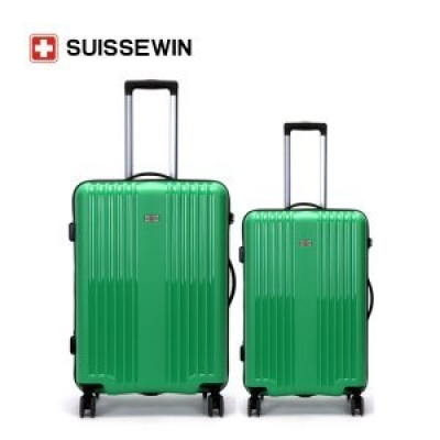 SUISSEWIN 绿色竖纹24寸SW0005L 时尚潮流轻